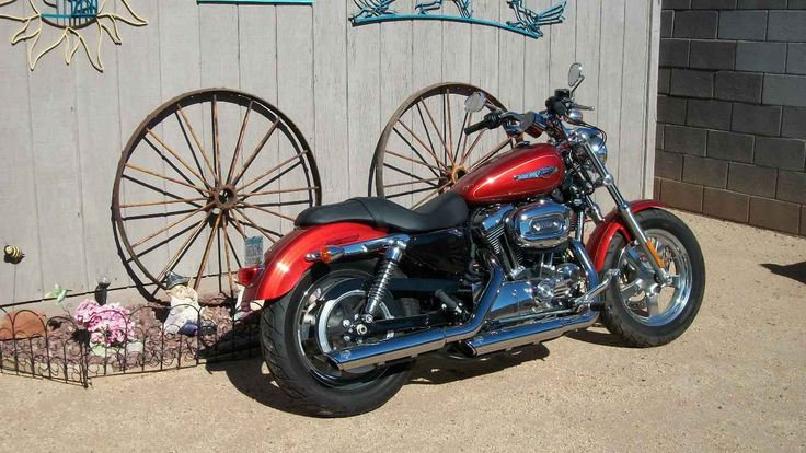 Used 2014 Harley-Davidson SPORTSTER 1200 CUSTOM Motorcycles For Sale in Arizona,AZ. This bike is like new with only 400 miles on it. Vance & Hines exhaust & tear drop mirrors added to this bike.