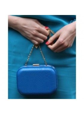 It's Vintage Darling Feeling Blue Vintage 1960's Inspired Box Clutch. Buy @ http://thehubmarketplace.com/Feeling-Bright-blue-vintage-1960s-inspired-box-clutch-bag