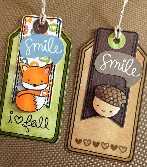 Lawn Fawn - Into the Woods stamps, 6x6 paper, Tag, You're It Lawn Cuts dies _ Terri's tags are so adorable! Into the Woods Gift Tags | Flickr - Photo Sharing!