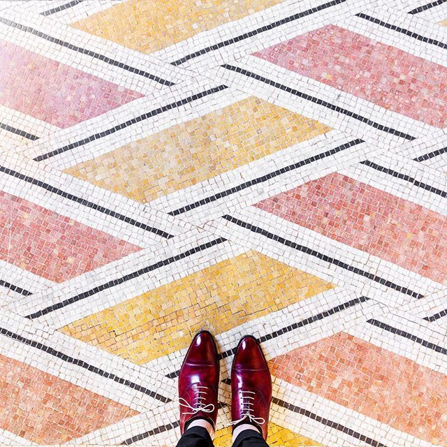 Paris - pink and orange tile