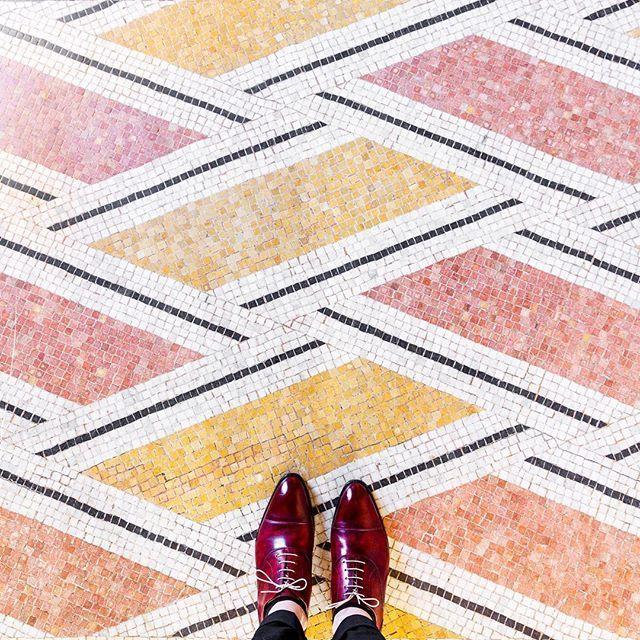 Paris - pink and orange tile