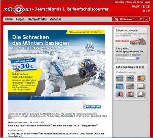 Vier neue Michelin Winterreifen kaufen und einen 30 Euro Tankgutschein erhalten. http://www.tiefpreiswelt.de/reifen-com-30-euro-tankgutschein-von-michelin/4105/