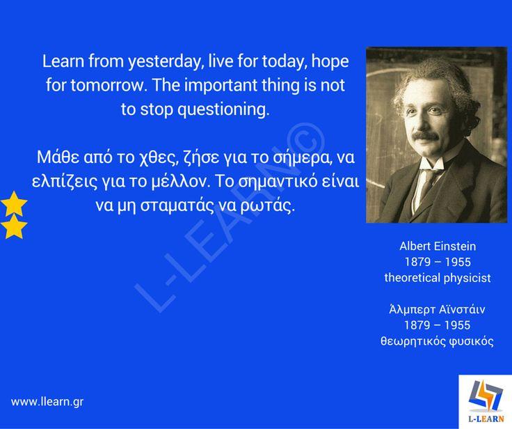 Άλμπερτ Αϊνστάιν.  #English #Αγγλικά #quotes #ρήσεις #γνωμικά #αποφθέγματα #Άλμπερτ #Αϊνστάιν