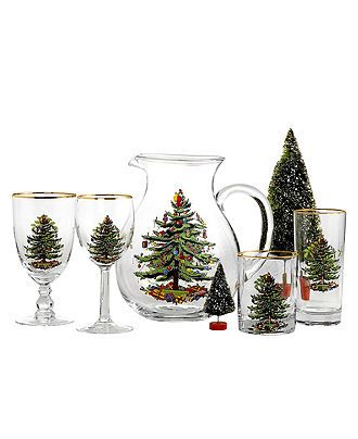 Spode Glassware, Set of 4 Christmas Tree Collection - Holiday Drinkware - Holiday Lane - Macy's