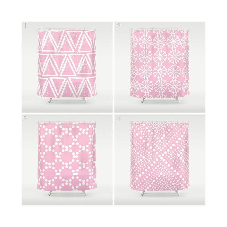 Best 25+ Pink shower curtains ideas on Pinterest | Curved curtain ...