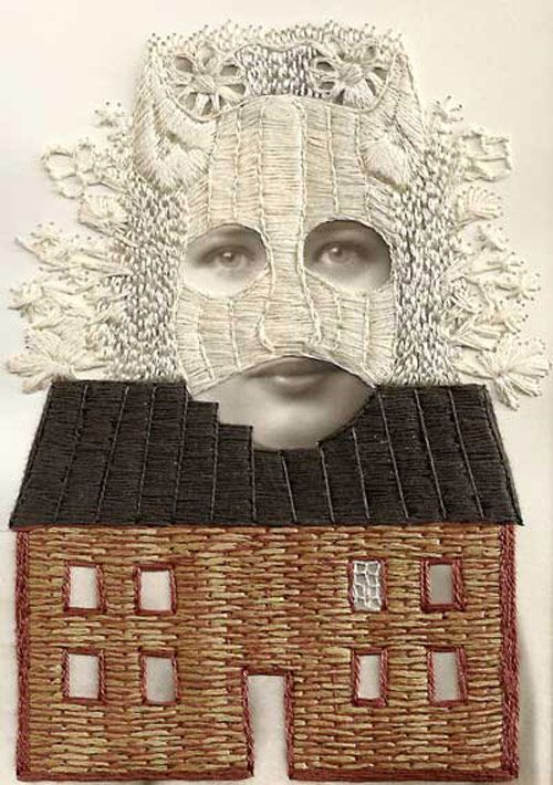 Stacey Page's Absurd and Wonderful Embroidered Portraiture