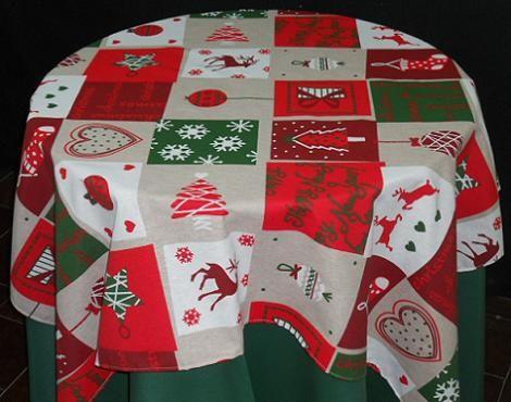 Mantel redondo de Navidad