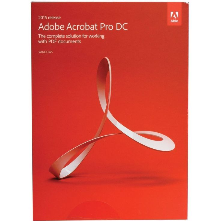 New Adobe Acrobat Pro DC 2015 Release for Windows - Sealed Box