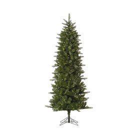 Vickerman 7-Ft 6-In Pre-Lit Slim Artificial Christmas Tree With Warm W