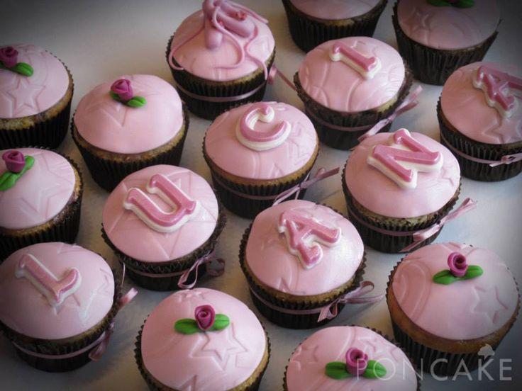 Girly Cupcakes - Pink Cupcakes - Cupcakes rosados - Cupcakes para niñas