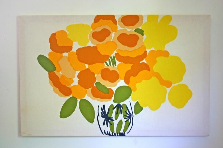 vintage fabric wall art print Marimekko