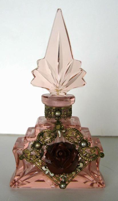 Rare Art Deco Czech perfume bottle. @Deidra Brocké Wallace