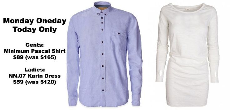 Monday Oneday - Classic Danish design on pop-up sales. Check www.facebok.com/danskonchapel every Monday #danishdesign #fashion #stellarprices #Blue #white #shirt #ss12 #ss13