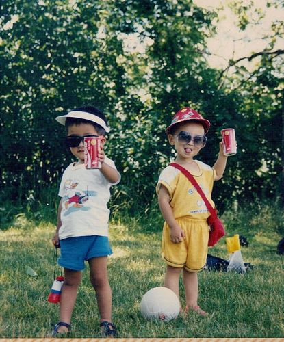 Beverage pride is a sign of early hipster-like behavior by Derek, Sandy and Peter via accidentalchinesehipter. Thanks to @Elizabeth Silbermann : ) #accidentalchinesehipster #Kids #Photography