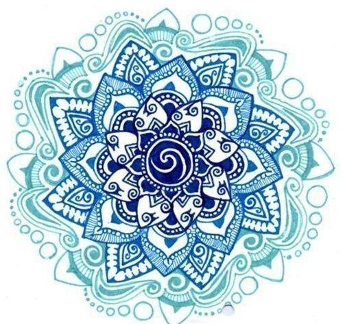 lotus tattoo - I like varying color shades here.