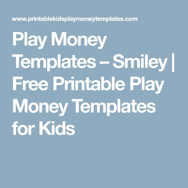 The 25+ best Printable play money ideas on Pinterest Free role - play money template