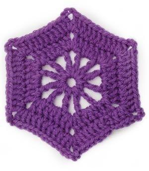 Crochet Motif VII:  Hexagon Wheel Motif