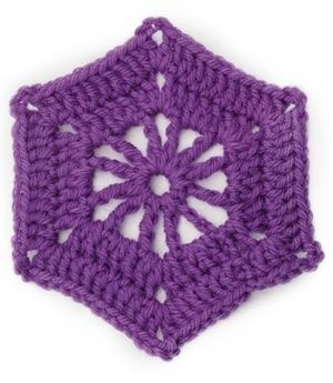 Image of Crochet Motif VII:  Hexagon Wheel Motif