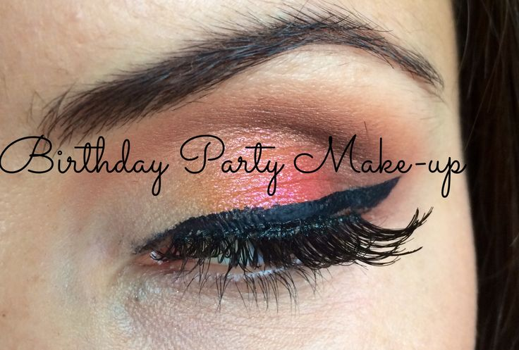 Birthday party make-up for green eyes ❤️