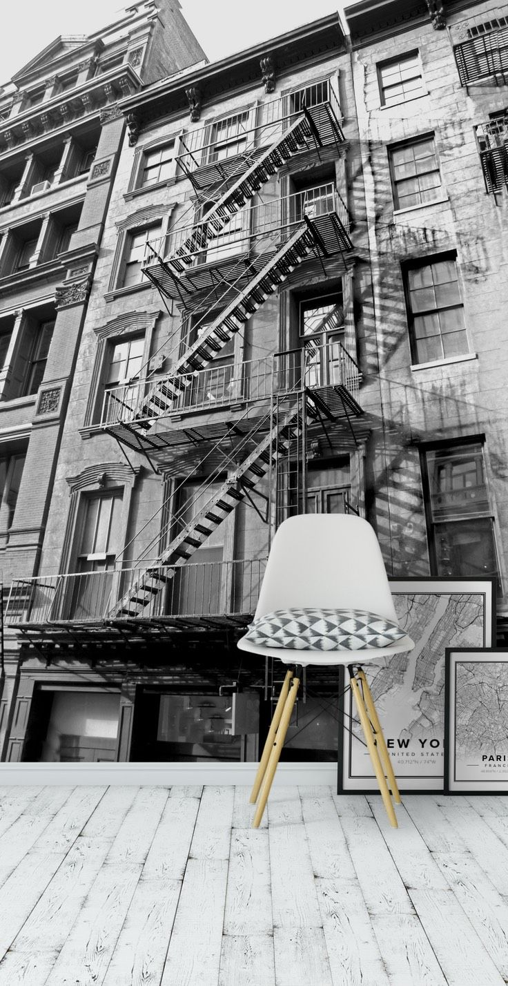 Photos bild galeria decoration murale design - New York Stairs Wall Mural Wallpaper