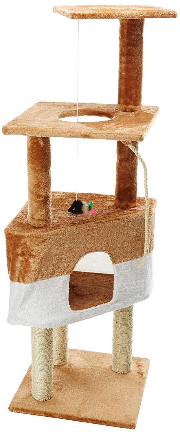 Paws And Pals 16x16x50 Cat Tree House W Scartching Post Towers