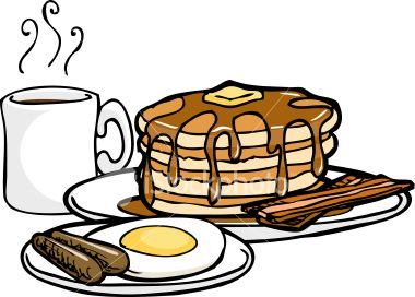 Men's breakfast clipart black and white - ClipartFest ...