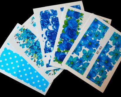 Koko kynnen siirtokuvat sininen 5 kpl 5,10€ www.berylli.fi #ruusu #siirtokuva #water #decal #decals #kynnet #kynsikoristelu #nail #art #nails #vintage #kauneus #blue #turquoise