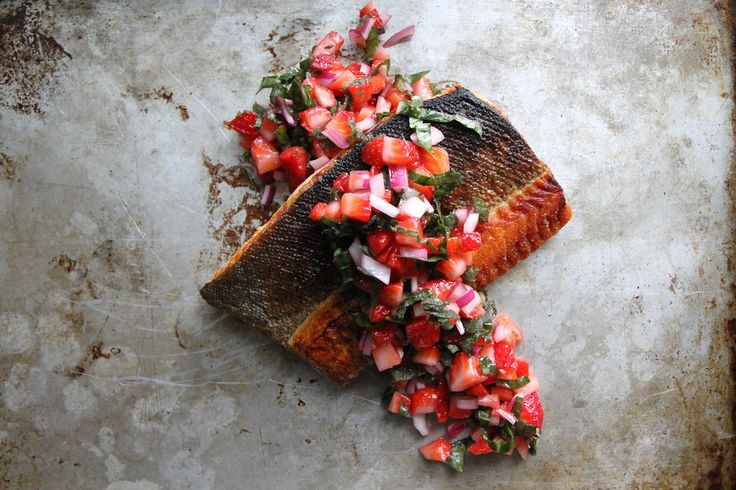 Crispy-Salmon-with-Strawberry-Basil-Salsa