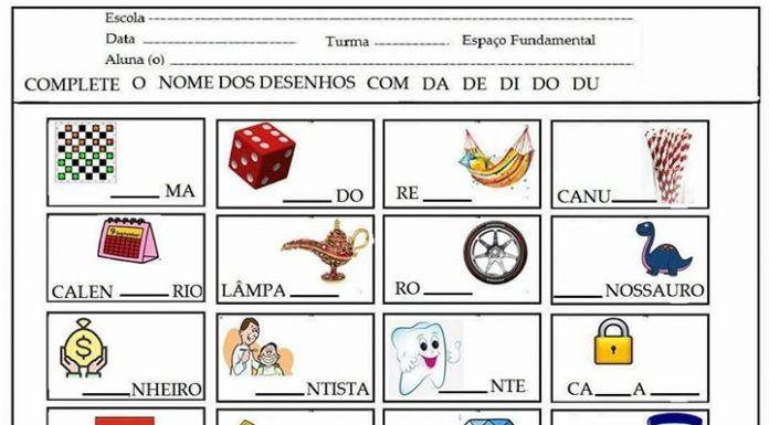 Atividades Com Silabas Simples Para Educacao Infantil Atividades