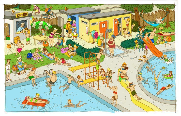 Praatplaat zwembad