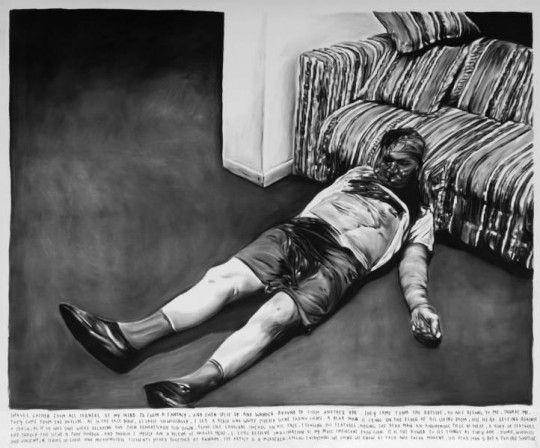 © Rinus Van de Velde, Berlin, September 2012, fusain sur toile, 190x250 cm, 2011