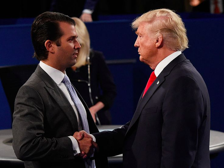 Trump reportedly signed off on Trump Jr.'s initial response to bombshell Russia email story - President Trump reportedly signed off on the initial statement his son, Donald Trump Jr. issued in response to a New York Times story claiming he met with a Russia-linked lawyer who allegedly promised damaging information about Hillary Clinton during the 2016 campaign.  A small group of Trump's advisors met privately while Trump was flying back from Europe on Saturday to try to craft a statement to…