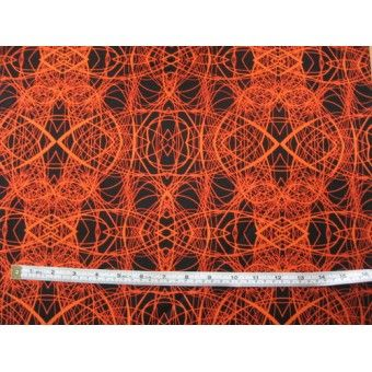 "Intricate orange and black print ""Patternista"" by Benartex #4563-33"