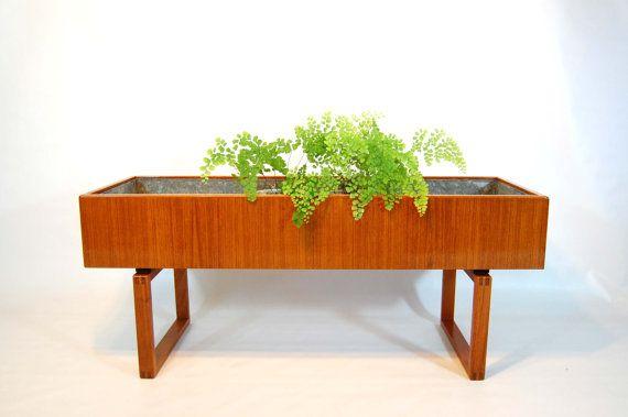 teak planters and danishes on pinterest beautiful mid century modern danish style teak