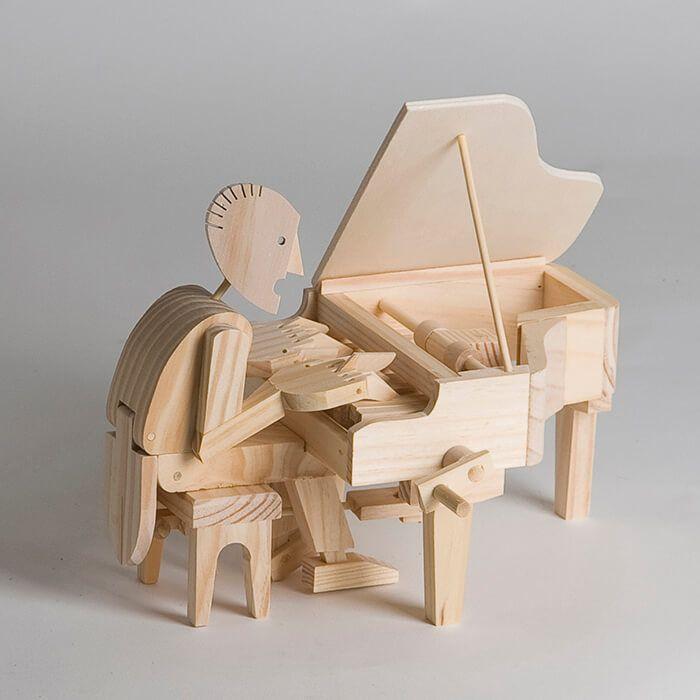 Educatief speelgoed online van Timberkits bestel je bij 100% HOUT | Pianist