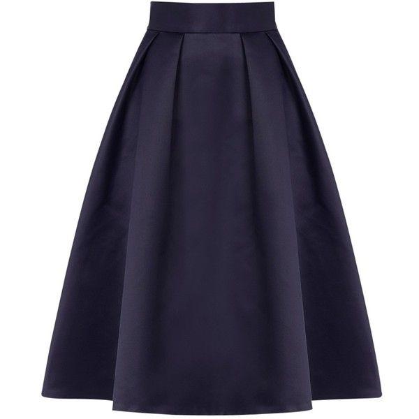 Coast Meslita Skirt, Navy ($115) ❤ liked on Polyvore featuring skirts, bottoms, saias, navy blue skirt, midi skirt, blue skirt, navy blue knee length skirt and mid calf skirts