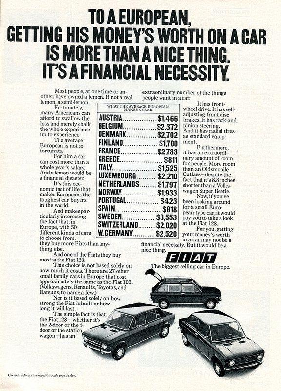 1973 fiat advertisement newsweek february 5 1973