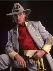 Patrick Swayze struts his stuff as Orry Main , in the epic mini-series ...
