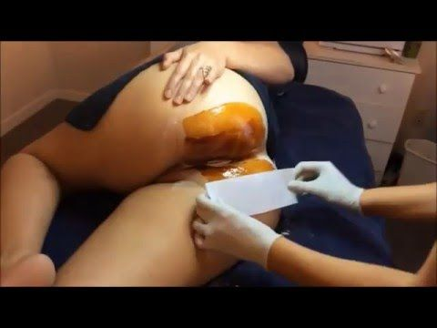 video of a brazilian wax