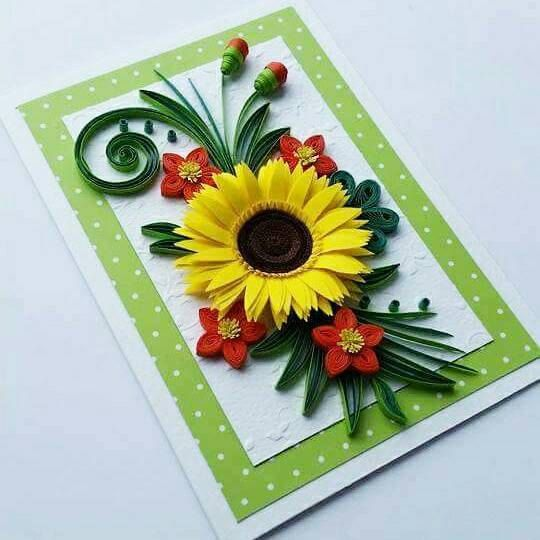quilling birthday card with sunflower mom birthday card day card happy birthday