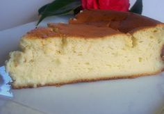 Tarta de queso con yogures griegos (al horno) // Baked Greek yogurt cheesecake recipe in spanish