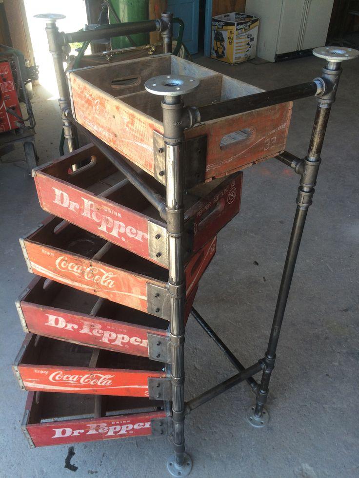 Vintage soda crates.