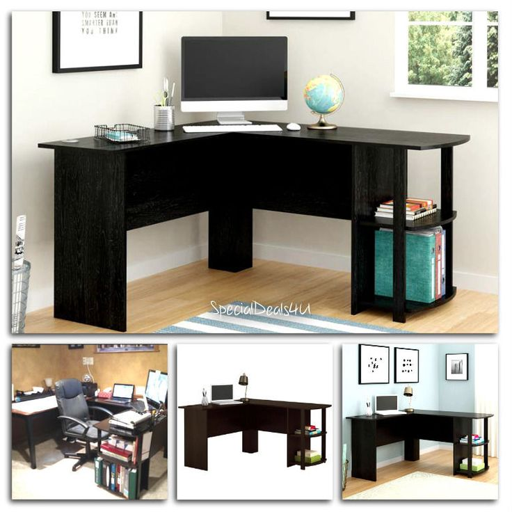 L Shaped Corner Desk Workstation Computer Home Office Executive Gaming Table New #SD4UFurniture #ModernContemporary
