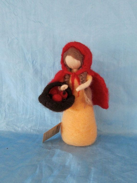 SALE, Needle Felted, Little Red Riding Hood, waldorf inspired, Story telling, Ready to ship