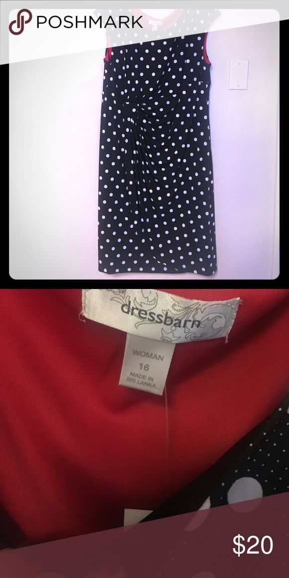 Black and white polka dot dress Never wore black and white polka dot dress with price tag still attached. Great for a date or a gathering with friends on the weekend. Dress Barn Dresses