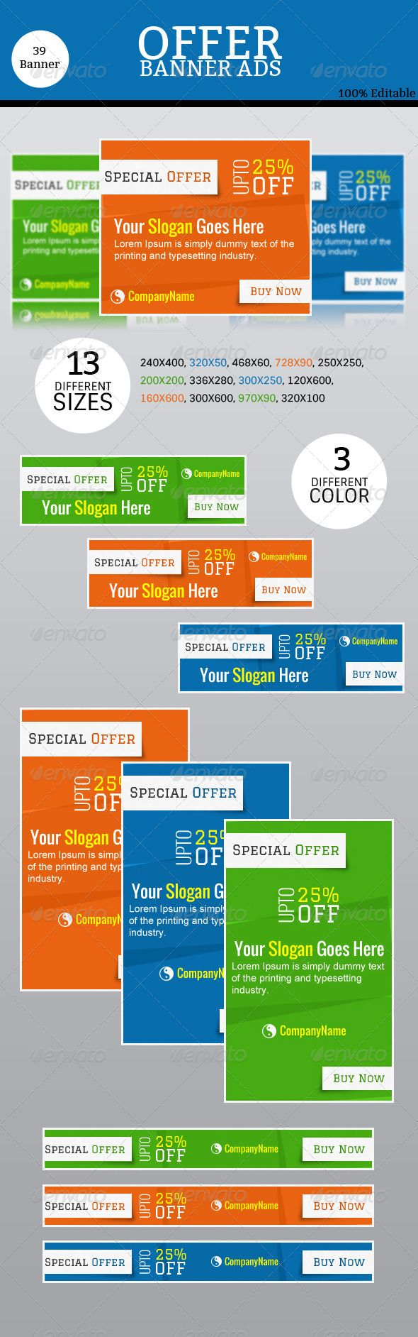 Offer Banner Ads Template PSD | Buy and Download: http://graphicriver.net/item/offer-banner-ads/8597111?WT.ac=category_thumb&WT.z_author=parthamallick&ref=ksioks