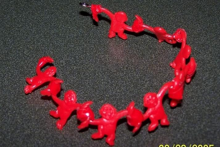 Barrel of Monkeys bracelet