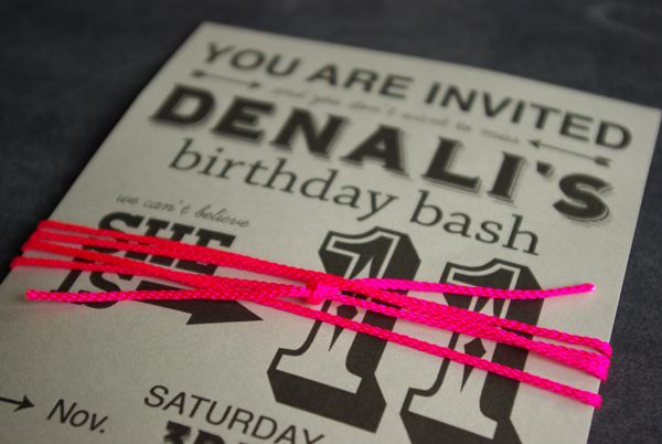 Oleander and Palm: Neon Party Invites