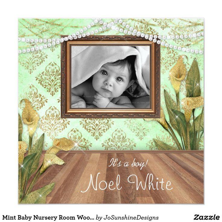 Mint Baby Nursery Room Wood Floors Calla Lily