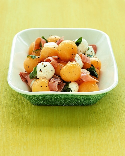 Cantaloupe and Bocconcini Salad with Mint - Martha Stewart Recipes